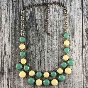Jewelry - Turquoise & Cream Statement Necklace